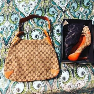 Gucci purse and shoes